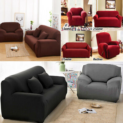 Stretch Sofa Couch Covers Slip Cover Sofa Lounge Protector Cover 1 2 3 4 Seater