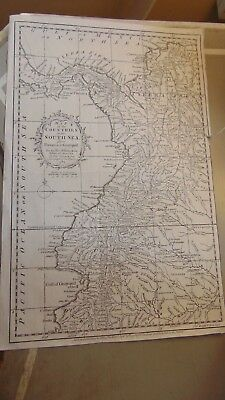 1795 Map Of The Countries Of The South Sea From Panama To Guayquil Kitchin