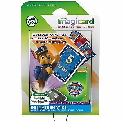 LeapFrog PAW Patrol Imagicard Learning Game (for LeapPads and LeapFrog Epic) NEW
