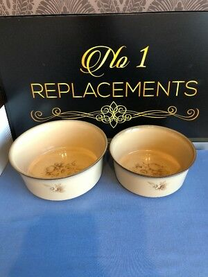 """2 x Denby Images / Memories Vegetable Serving Dishes 8"""" And 7"""" Wide"""