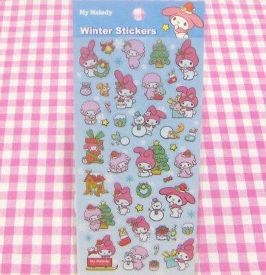 Sanrio My Melody Piano Winter Snowman Sticker Sheet  Japan Stationery 2014