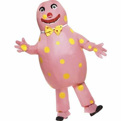 Smiffys Mr Blobby Costume, Pink with Inflatable Suit & Gloves, Men - One Size