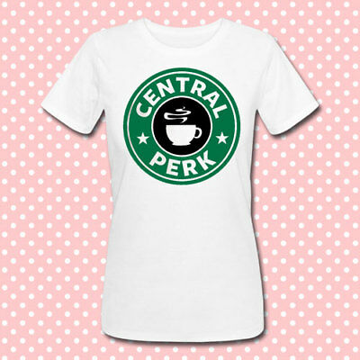 T-shirt donna Central Perk Friends inspired Starbucks style inspired, bianca