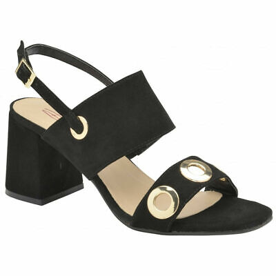 799e4184dd69 Womens Dolcis Naomi Black Ankle Open-Toe Sandals Strappy Holiday Shoes Uk 3- 8