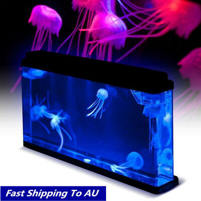 Deluxe LED Light Glowing Jellyfish Aquarium Sea World Fish Pet Tank Home Decor
