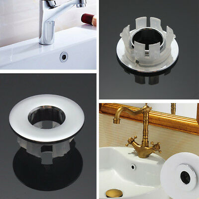 Brass Basin Overflow Spare Bathroom Sanitary Sink Round Ring Cover Tidy Trim