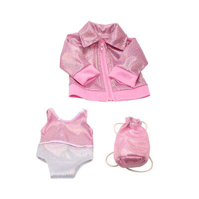 Doll Clothes Pink Swimsuit Set for 18'' American Girl Our Generation Doll