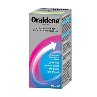 Oraldene Antibacterial Mouthwash 200ml 1 2 3 6 12 Packs