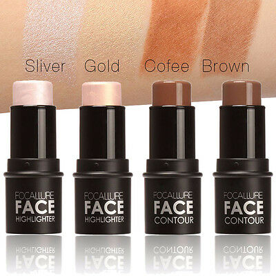Waterproof Shimmer Highlight & Contour Stick Long-lasting Makeup Stick 4 Colors