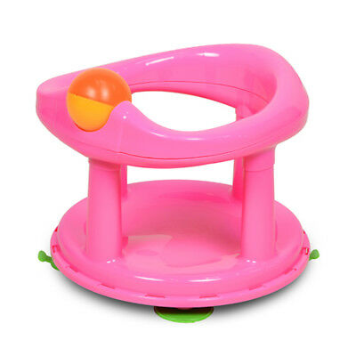 Pink Baby Newborn Infant Water Tub Bath Support Pad Seat Safety 1st Swivel