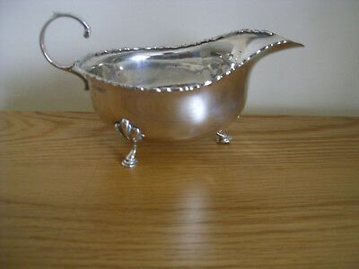 A Solid Silver Sauce Boat Assayed Chester 1908