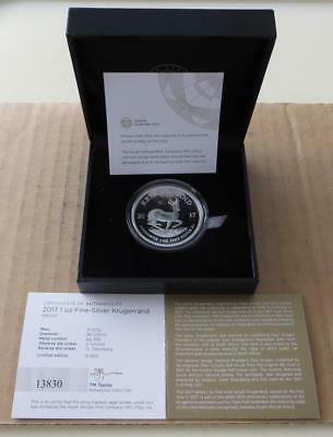 South Africa 2017 Proof Silver Kruger Rand. Only 15000 minted. MD-SKR2