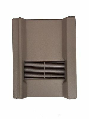 Roof Tile Vent To Fit Marley Wessex Roof Tiles | Brown Granular | 8 Colours