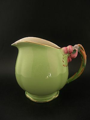 Royal Winton Grimwades Tiger Lily Green Vintage English China Milk Jug A/F