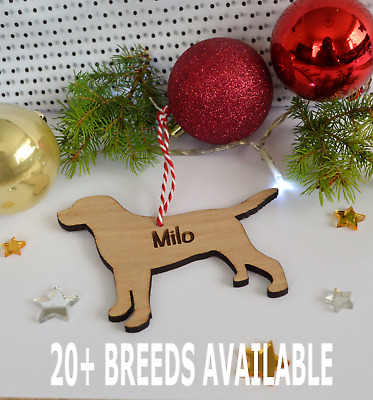 Personalised Pet Christmas tree decoration- Guinea pig, Dog Or Cat