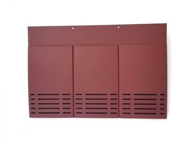 Plain Tile Roof Vent | Red Smooth | 10 Colours | Fits Concrete / Clay Tiles