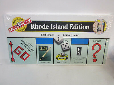 Vintage 1998 Monopoly Rhode Island Edition Board Game Hasbro new