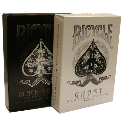 Ellusionist Ghost Playing Cards - Black or White Available - Cool Magicians Deck