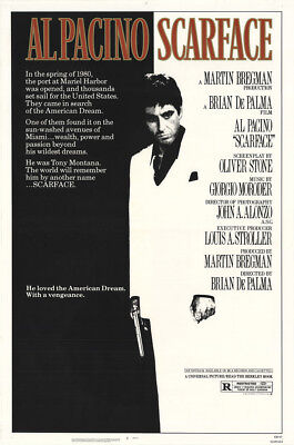 Scarface 1983 27x41 Orig Movie Poster FFF-12055 Rolled Near Mint, Very Fine