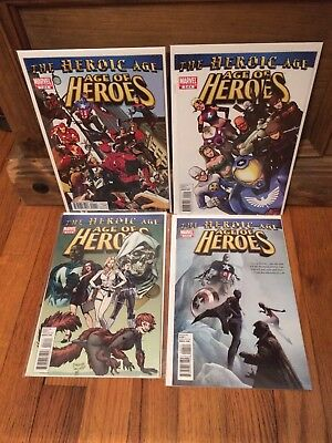 Complete Set of Age Of Heroes #1 2 3 4  Marvel Comics (2010) VF/NM Lot