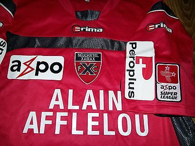 Neuchâtel Xamax Switzerland #11 Alexandre Rey match worn home shirt size L/XL