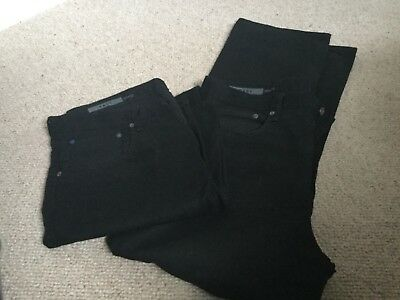 Two pairs of mens 1969 Gap black Easy jeanssize 38x32