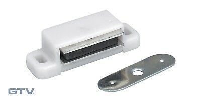 MAGNETIC CATCHES KITCHEN CABINET CUPBOARD 3-4kg Pull WHITE