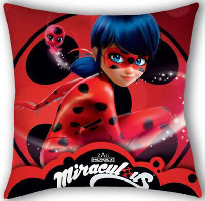 Miraculous Ladybug Kids Girls Children`s Character Cushion Cover