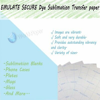 Emulate Secure™ Tack Dye Sublimation Paper Sheets by Neenah Inc 100 sheets