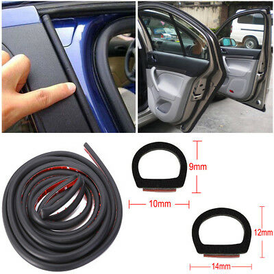4M/13FT Large/Small D-Type Weatherstrip Car Sealing Rubber Door Seal Strip Truck