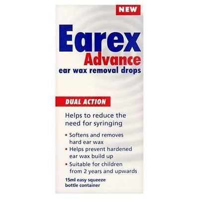 Earex Advance Dual Action Ear Wax Removal Drops, 12ml