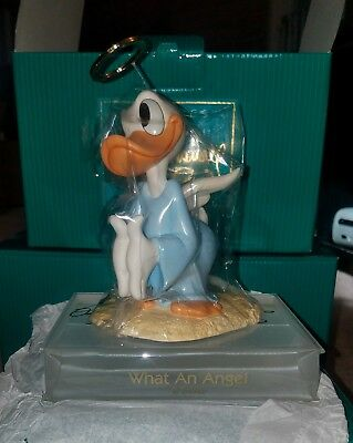 """WDCC  Donald Duck """"What An Angel"""" Autographed by Disney Sculptor"""
