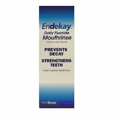 Endekay Daily Fluoride Mouthrinse 0 05% Mint Flavour 500ml 1 2 3 6 12 Packs