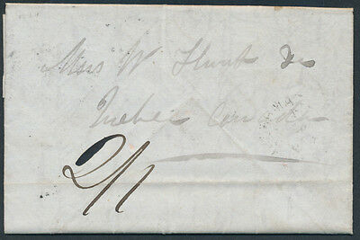 1848 SFL Sydney CB to Quebec, Rated 2/1, 3 Page Letter Contents