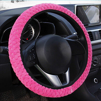 plush Car steering wheel cover winter warm Auto Interior Accessories PL