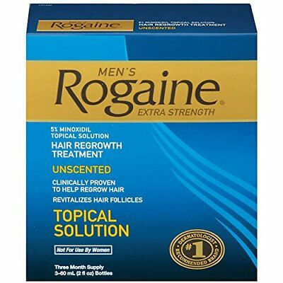 Men's Rogaine Hair Regrowth Treatment Extra Strength - 3 Month Supply
