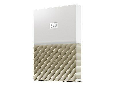 WD My Passport Ultra portable 2TB USB 3.0 external hard drive - white-gold