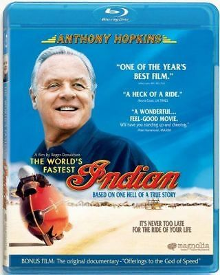 Blu Ray THE WORLD'S FASTEST INDIAN. Anthony Hopkins. Region free. New sealed.
