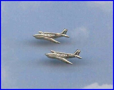 Made in the USA Beech Bonanza Straight Tail Post Earrings Airplane Aviatrix