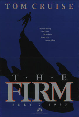 The Firm 1993 27x41 Orig Movie Poster FFF-21674 Rolled Tom Cruise