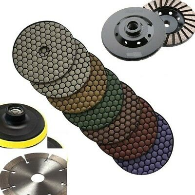 Diamond Polishing Pad 4 inch Dry 7+1 PCS Grinding Cup Wheel blade Granite Stone