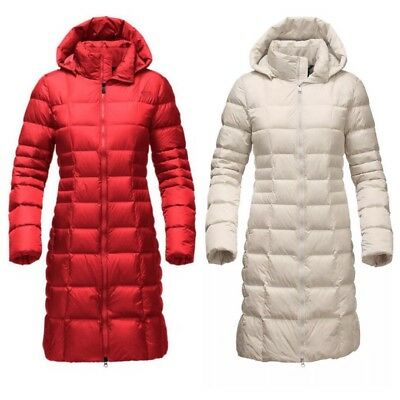 NWT The North Face Women's Metropolis Parka 2 Down Coat Red White Sz XS S M L XL