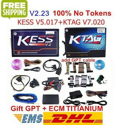 NEW KESS V2 V5.017 V2.23 + KTAG V7.020 V2.23 Set ECU Programming No Token Limit