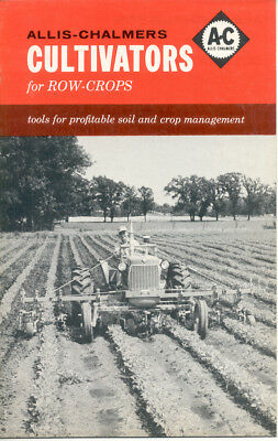 1961 ALLIS CHALMERS - Row Crop CULTIVATORS -12 Page SALES BROCHURE -TL-2377-6102