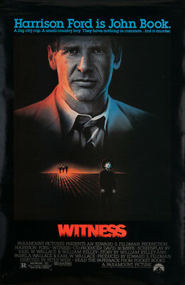 Witness 1985 27x41 Orig Movie Poster FFF-19257 Rolled Fine, Very Fine