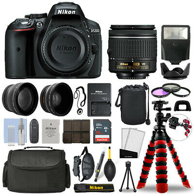 Nikon D5300 DSLR Camera with 18-55mm VR + 16GB 3 Lens Ultimate Accessory Kit