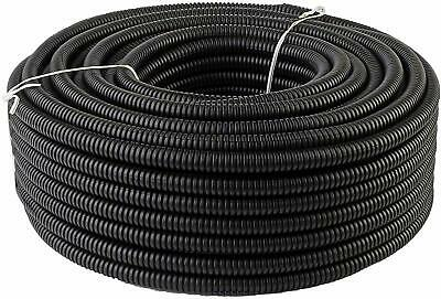 "5 Ft 3/8"" Split Wire Loom Conduit Polyethylene Tubing Black Color Sleeve Tube RV"
