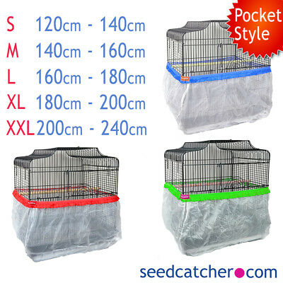 Bird Cage Tidy, Cage Seed Catcher Guard Pile Fabric Pocket Style Parrot Budgie