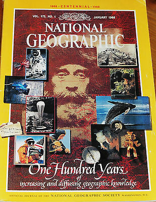National Geographic January 1988 Ng Founding America In 1888 Poland Galapagos