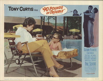 40 Pounds Of Trouble 1963 11x14 Orig Lobby Card FFF-18614 Near Mint Tony Curtis